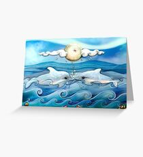 baby dolphins Greeting Card