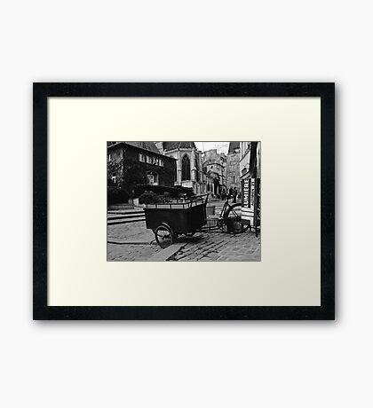 the cart Framed Print