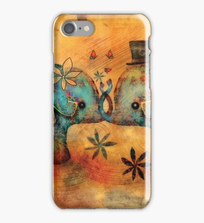 Vintage Elephants iPhone Case/Skin