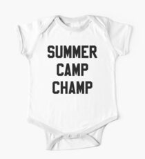 SUMMER CAMP stickers One Piece - Short Sleeve