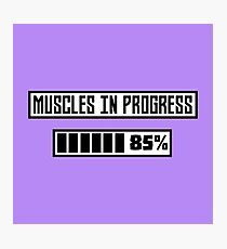 Muscles in progress workout R1l52 Photographic Print