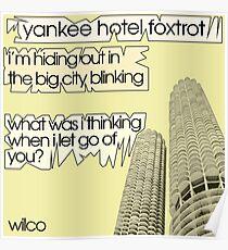 Wilco - Yankee Hotel Foxtrot lyrics Poster