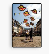 Flagthrowers Canvas Print