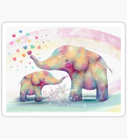 elephant affection Sticker