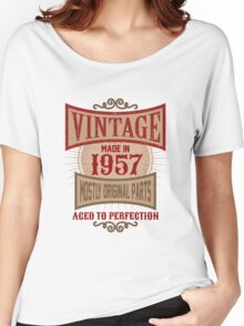 Vintage Made In 1957 Retro Birthday Gift Women's Relaxed Fit T-Shirt