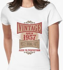 Vintage Made In 1957 Retro Birthday Gift T-Shirt
