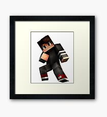 Minecraft games make you funny tank top ! Framed Print