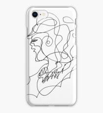 sketching portrait iPhone Case/Skin