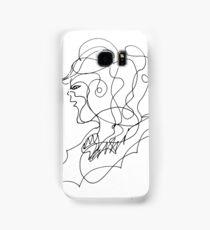sketching portrait Samsung Galaxy Case/Skin