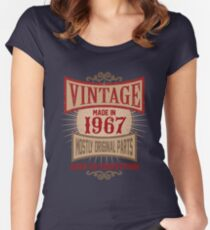 Vintage Made In 1967 Retro Birthday Gift T-Shirt Women's Fitted Scoop T-Shirt