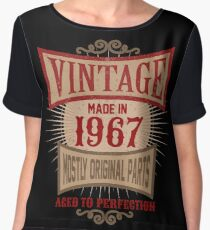 Vintage Made In 1967 Retro Birthday Gift T-Shirt Chiffon Top