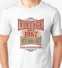 Vintage Made In 1987 Retro 30th Birthday Gift Unisex T-Shirt