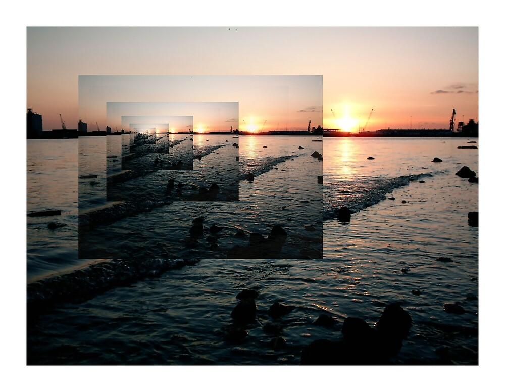 Docklands Sunset by Ian Lockwood