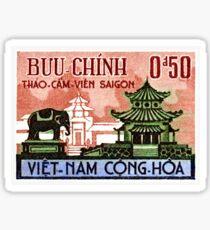 1964 Vietnam Saigon Zoo Postage Stamp Sticker