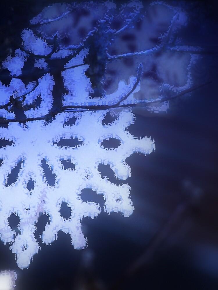 snowflakes in blue 3 by DlmtleArt