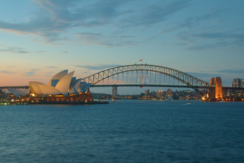 Quot Sydney Harbour Bridge And Opera House At Sunset Quot By Trent