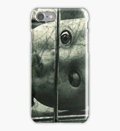 Creepy doll in a cage iPhone Case/Skin