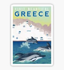 Greece Travel Poster Sticker