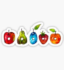 The Very Hungry Caterpillar Fruit (White) Sticker