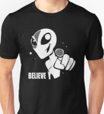 Alien Believe Space Sci Fi T-Shirt