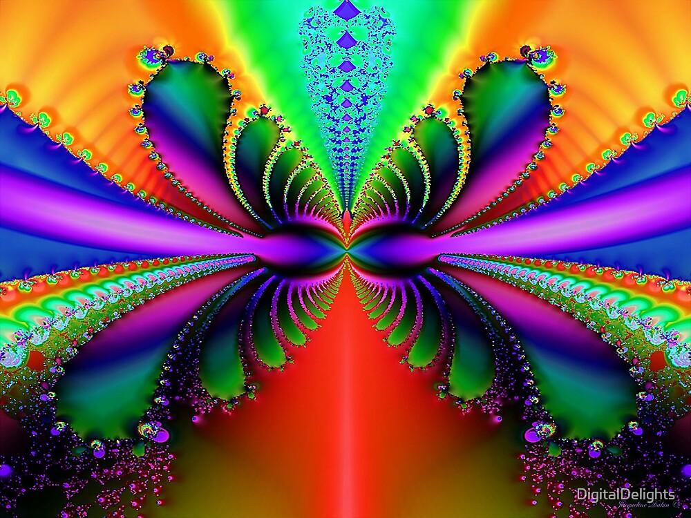 Rainbow Butterfly by DigitalDelights