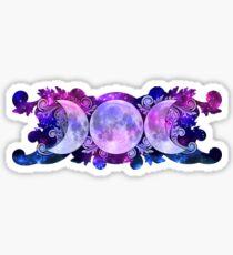 Triple Goddess Moons and Stars Sticker