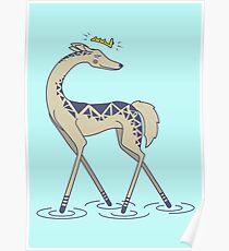 Crown Deer Poster