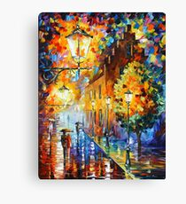 Lights In The Night - Leonid Afremov Canvas Print