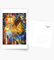 Lights In The Night - Leonid Afremov Postcards