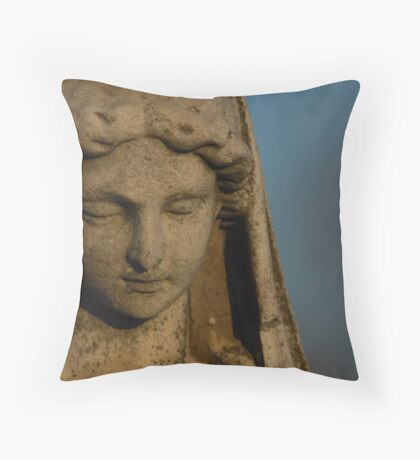 Aged beyond her years Throw Pillow
