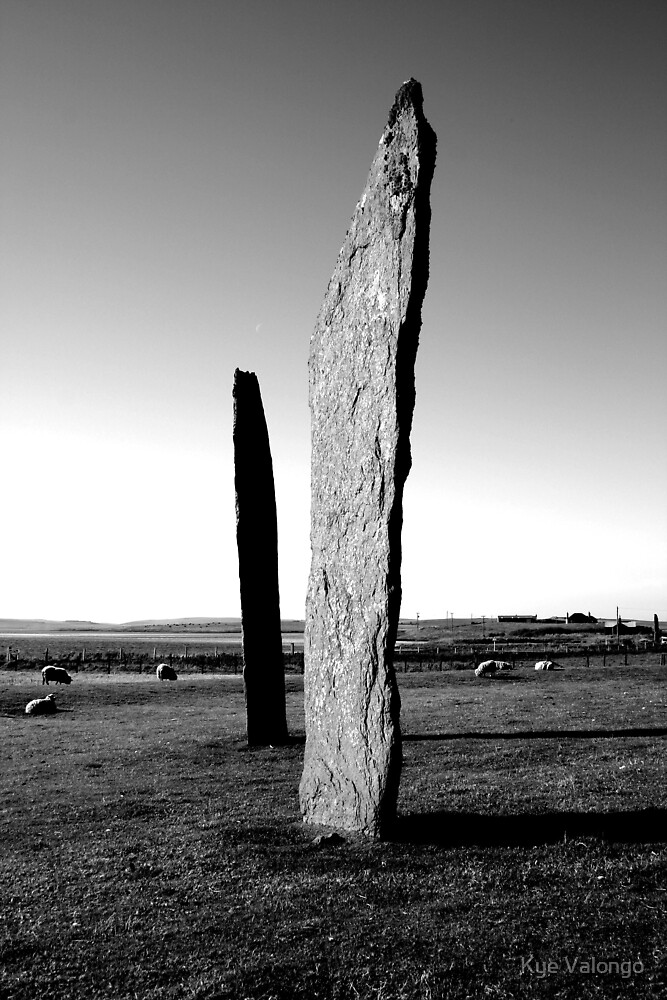 Stones of Stenness - and a few sheep by Kye Valongo