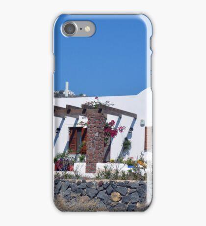 White minimalist building from Santorini  Greece iPhone Case/Skin