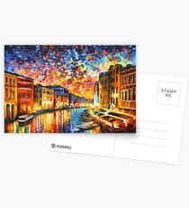 VENEDIG - GROSSKANAL - Leonid Afremov CITYSCAPE Postkarten
