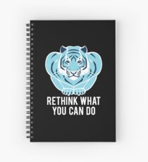 Blue/Black Tiger - Rethink what you can do. Spiral Notebook