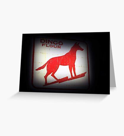 Dingo Flour Sign - Fremantle Western Australia  Greeting Card