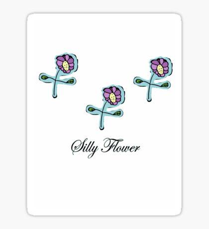Silly Flower Sticker