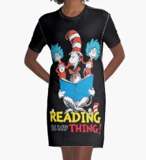 Reading Day Graphic T-Shirt Dress