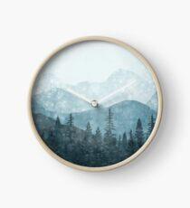 Morning Glory - Turquoise Clock