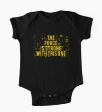 The Force Is Strong With This One Maternity One Piece - Short Sleeve