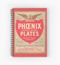 Phoenix Glass Plate Negatives Spiral Notebook