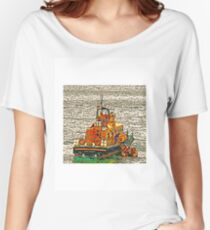 Fowey Lifeboat Women's Relaxed Fit T-Shirt