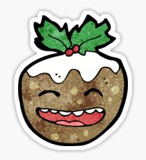cartoon christmas pudding Sticker