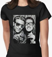 buddy holly and waylon jennings Womens Fitted T-Shirt