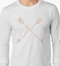 Rose Gold Arrows 2.0 - Adventure Wanderlust Pink Compass Design tshirt tapestry pillow rosegold  T-Shirt