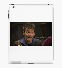 The Doctor Explains a Thing iPad Case/Skin