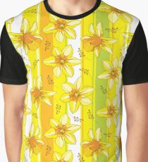 Bouquet with Narcissus or Daffodil. Graphic T-Shirt