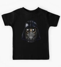 Gas Mask Japanese Shogun Style Kids Tee
