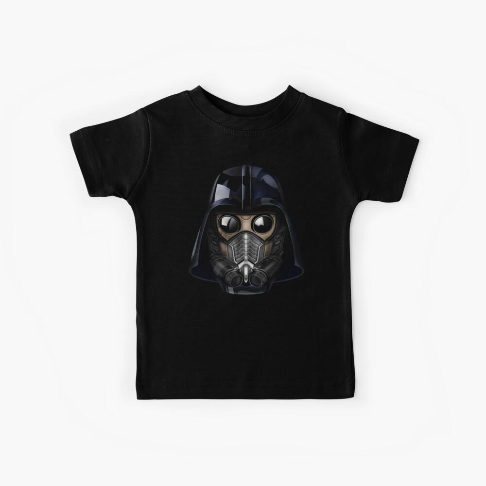 Gasmaske japanische Shogun-Stil Kinder T-Shirt