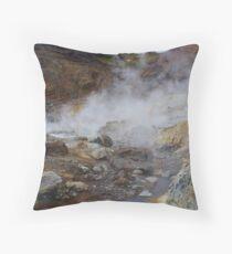 Sulfur Fields Iceland Throw Pillow