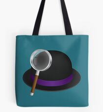 Alfred's hat & magnifying glass Tote Bag